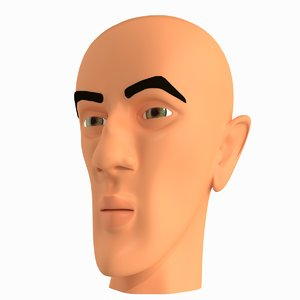 3d cartoon character mobster faces model