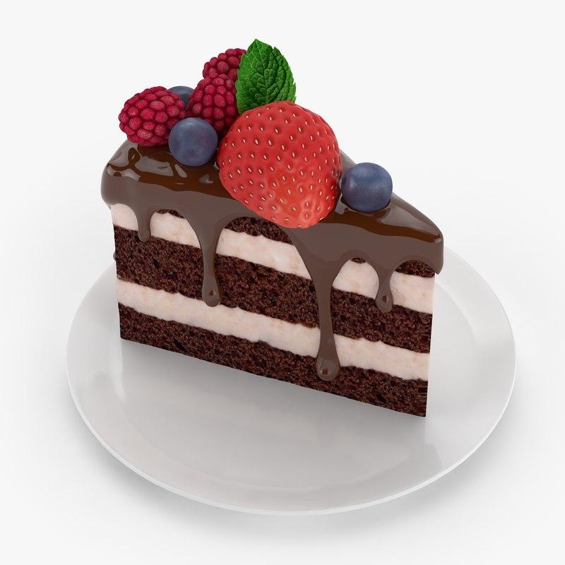 cake piece 3d model