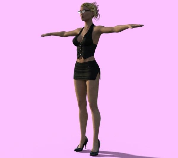 3d model beautiful female
