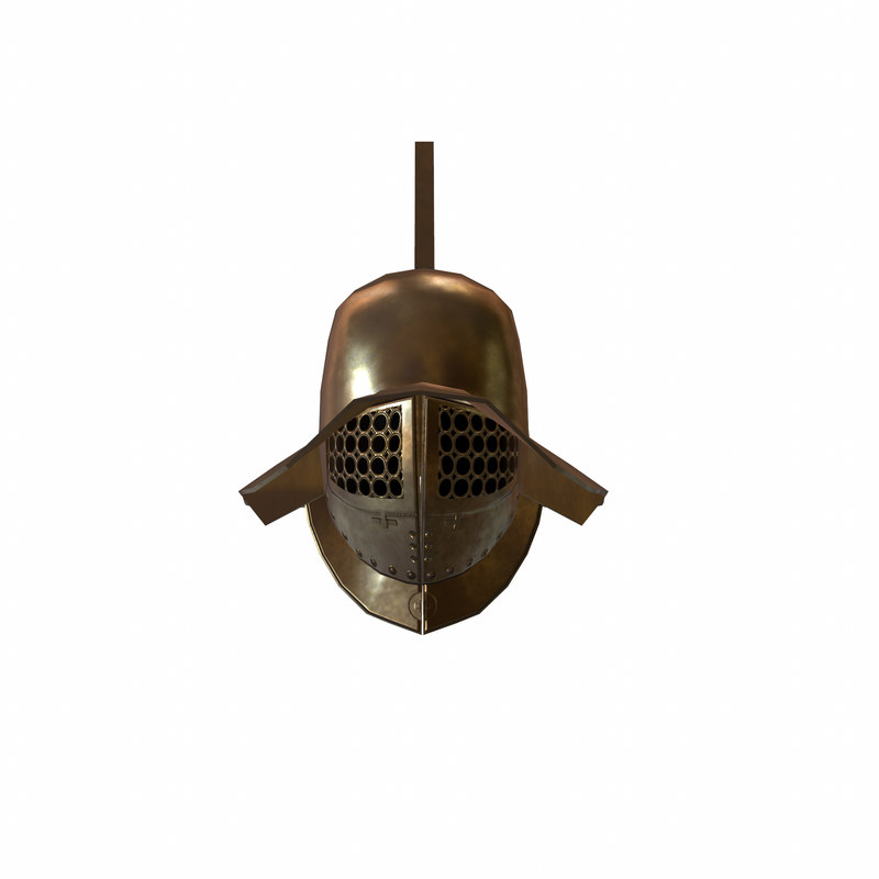 3d roman gladiator helmet model
