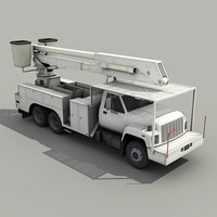 Utility Bucket Truck - Low poly