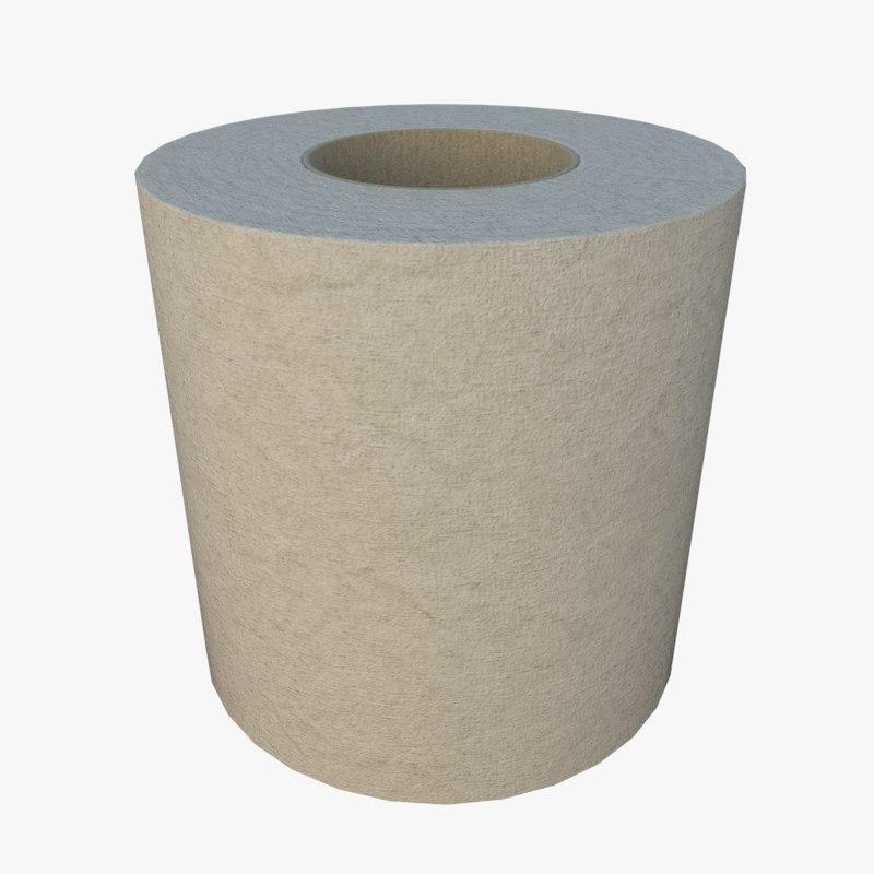toilet paper roll 3d obj
