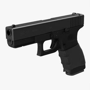 glock 17 handle 3d model