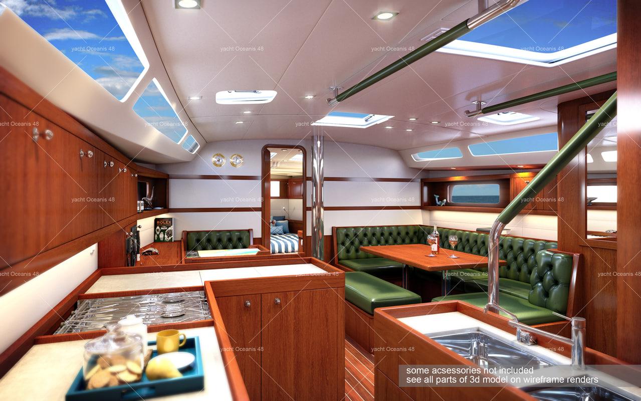 yacht oceanis 48 3d model
