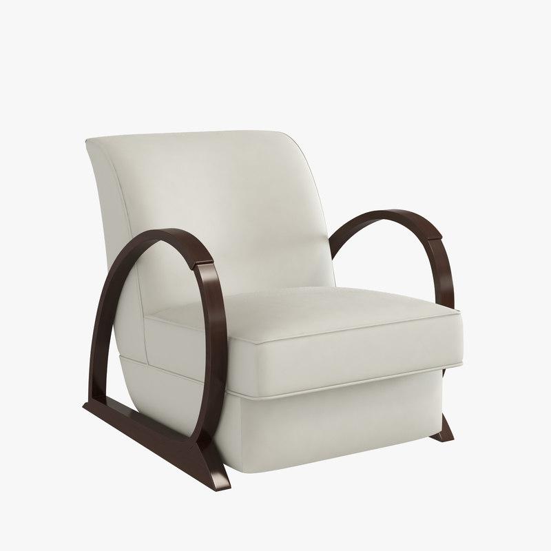 3d model armchair hugues chevalier liberty