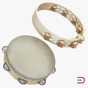 tambourines orchestral 3d 3ds