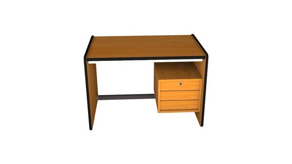 3d model escritorio simple 1990