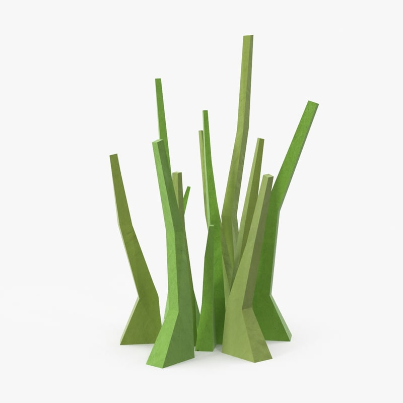 3d model of grass large