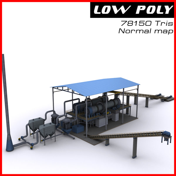 3d industrial site model