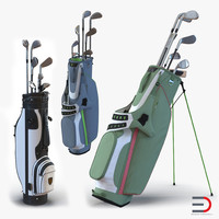 Golf Bags 3D Models Collection 4