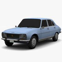 PEUGEOT 504 - 3 Versions - Game Ready