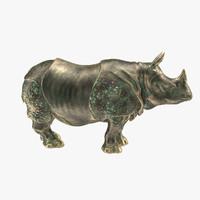 rhino statue 3d max