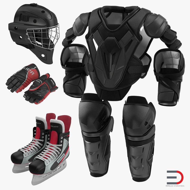 hockey protective gear kit 3ds
