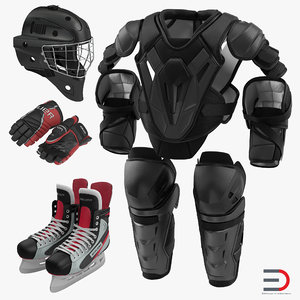hockey protective gear kit 3ds