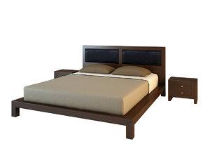 3d model jamila bed 76 351
