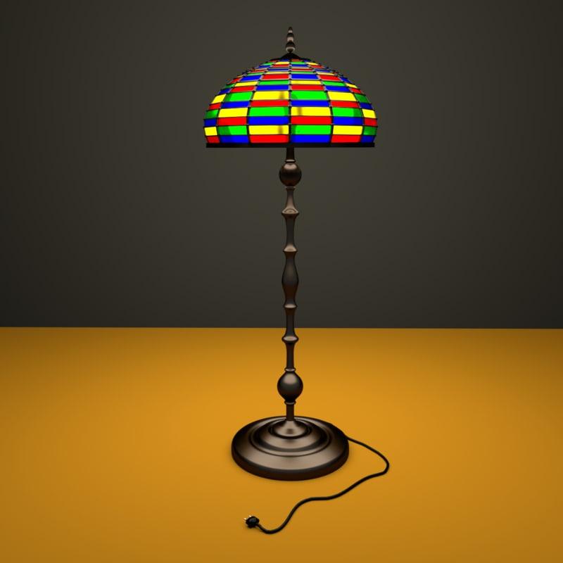 blend lamp floor tiffany