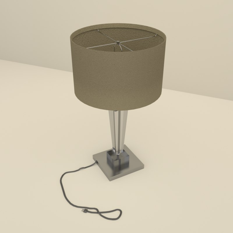 3d lamp table glass