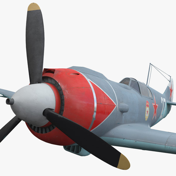 3d model aircraft la-5 soviet fighter