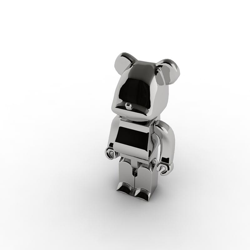 3d model bear metal
