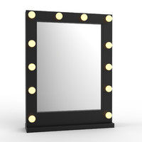 Makeup Mirror with highlights black