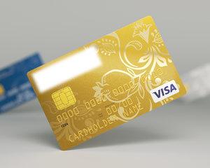 3d model bank card