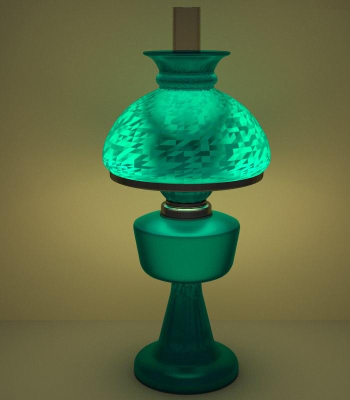 lamp teal oil 3d model