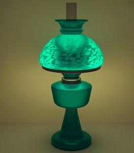 lamp teal oil 3d model