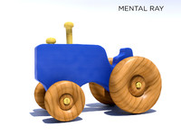 3ds wooden tractor