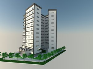 bulding youth housing 3d 3ds