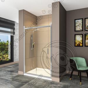 3d max shower cabin bathroom