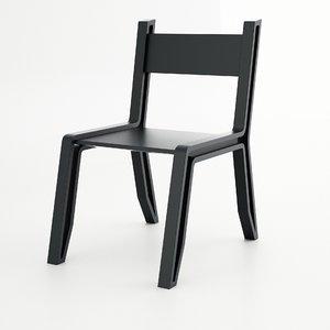 3d model inout chair bucca design