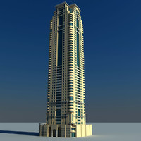 3d model marina crown dubai
