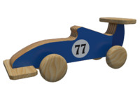 3d model f1 wooden toy designed