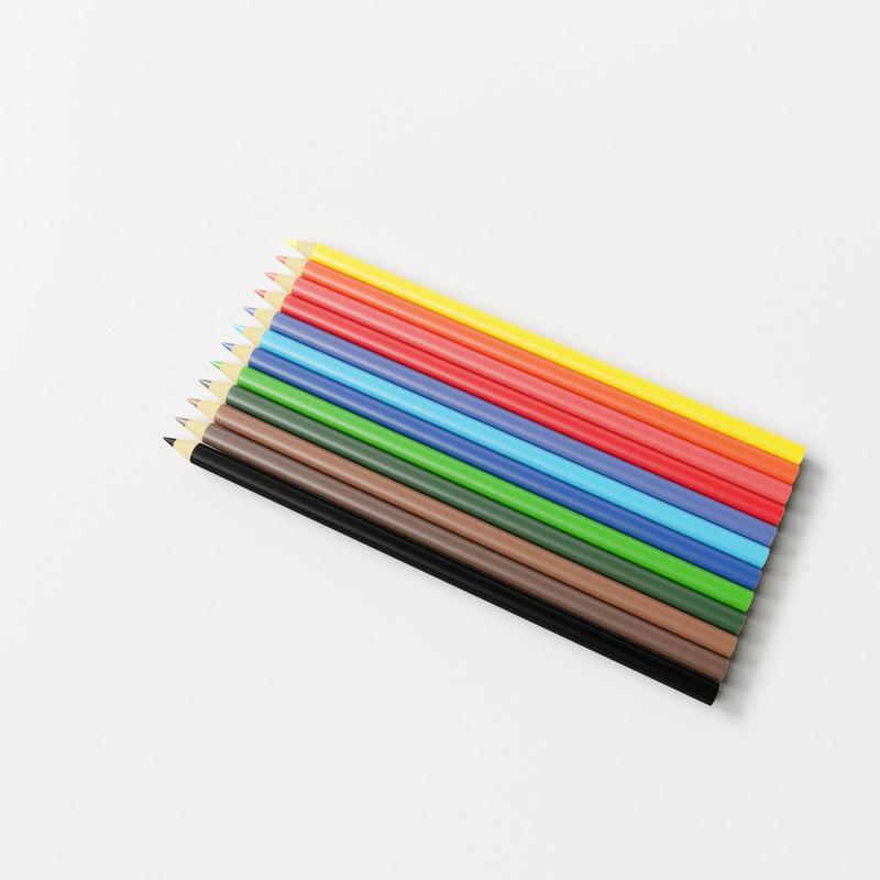 colour pencil v2 3d 3ds