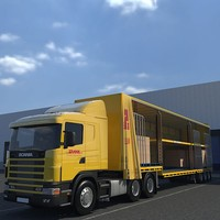 3d model of semi trailer cargo truck