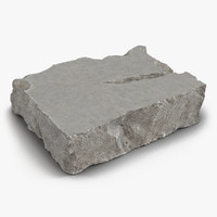 concrete chunk 3d model