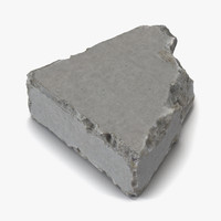 3d concrete chunk 8 materials model
