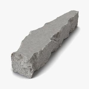 3d model concrete chunk 9 materials