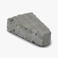 concrete chunk 7 materials 3d model