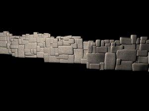 inca wall peru 3d model