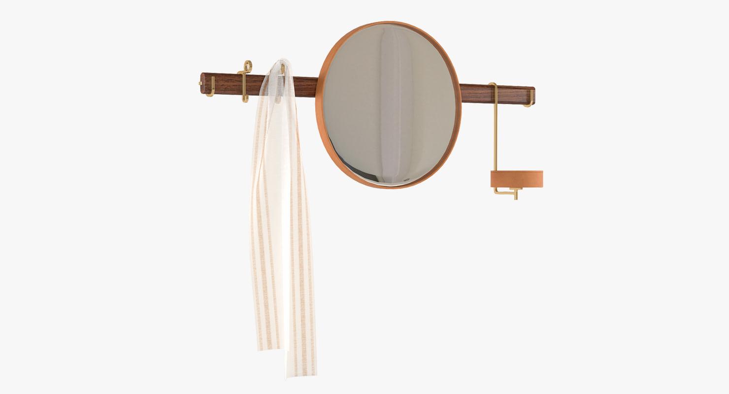 3d wall mirror poltrona frau