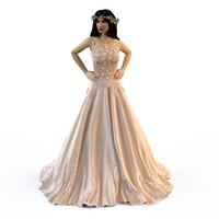 3d fashion zuhair murad wedding model
