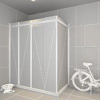 shower cabin bathroom 3d max