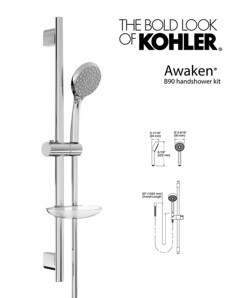 3d model handshower awaken b90 kit
