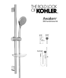 3d model handshower awaken b90 kit
