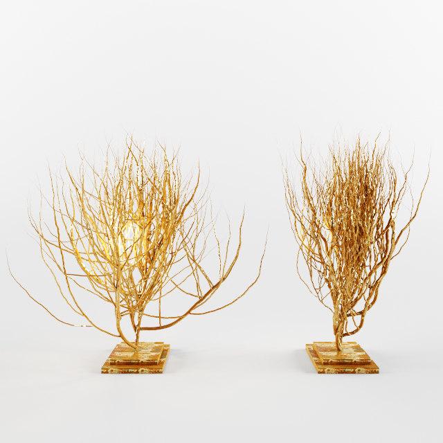 free decorative bushes 3d model