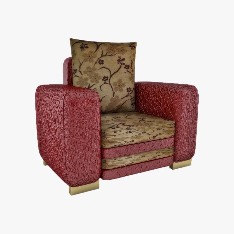 3d model of cascade chair