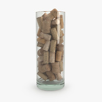 3d model interior bowl corks