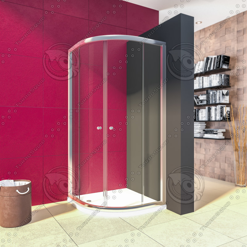 shower cabin bathroom 3d max