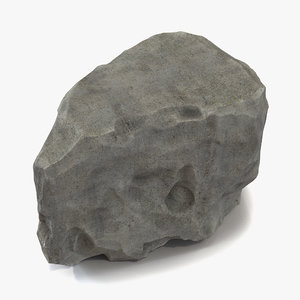 concrete chunk 4 3d model